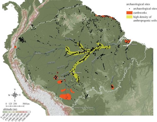 Map of the Amazon's Terra Preta Areas